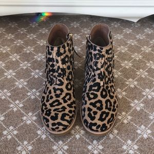 a950085b700c kate spade Shoes - Kate Spade  Betsie  Too Fringed Leopard Ankle Boot